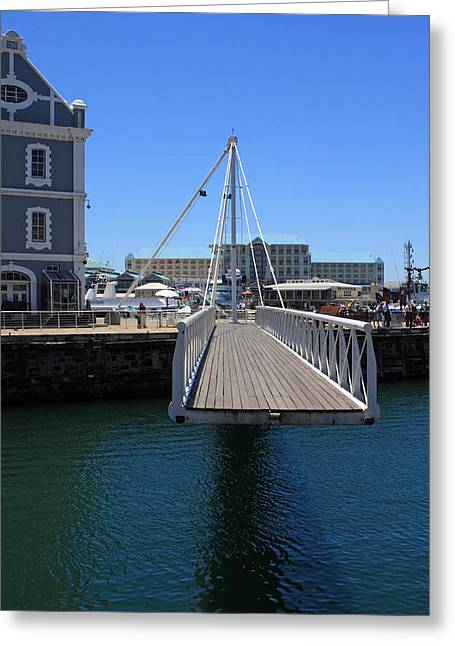 Cape Town Greeting Cards - Footbridge  Greeting Card by Aidan Moran