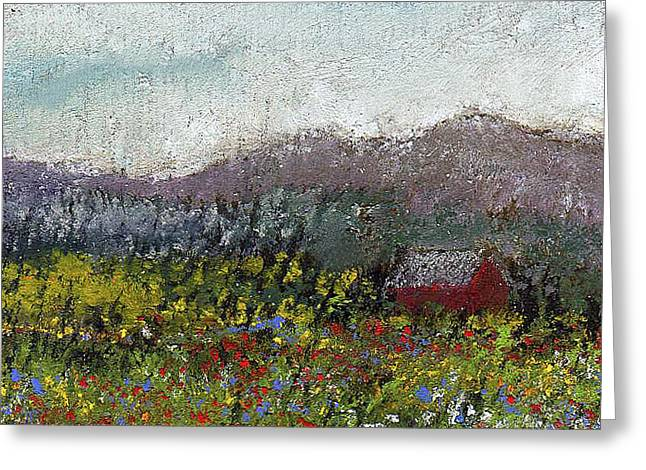 Meadow Pastels Greeting Cards - Foothills Meadow Greeting Card by David Patterson