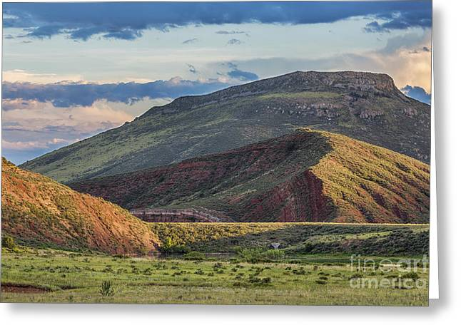 Geology Photographs Greeting Cards - foothills of Rocky Mountains in Colorado Greeting Card by Marek Uliasz
