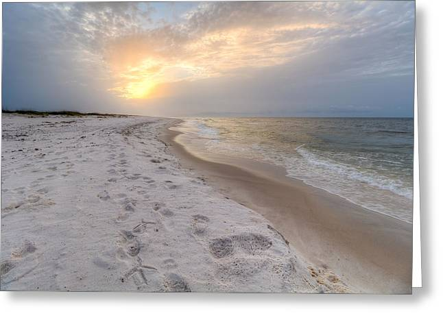 Surreal Landscape Greeting Cards - Footprints Greeting Card by Gary Oliver