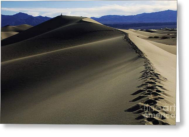 Footprints In The Sand Greeting Card by Bob Christopher