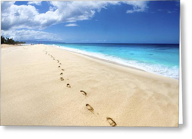 Footsteps Greeting Cards - Footsteps of Tranquility Greeting Card by Sean Davey