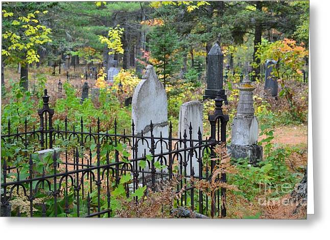 Final Resting Place Greeting Cards - For All Eternity  Greeting Card by Russie Marshall