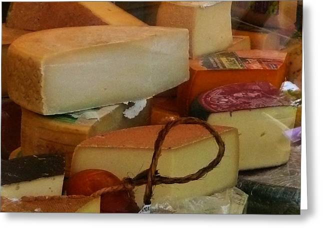 Dairy Foods Greeting Cards - For Cheese Lovers Only Greeting Card by Lori Seaman