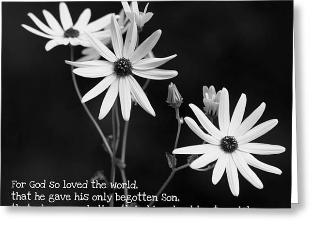 For God So Loved Black-eyed Susan Flower Greeting Card by Reid Callaway