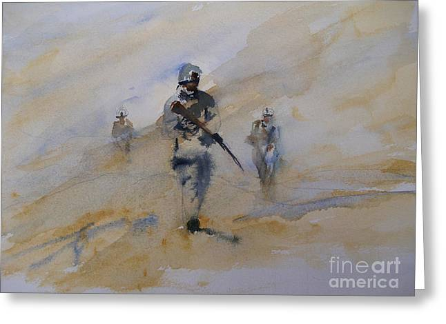 Iraq Paintings Greeting Cards - For John Greeting Card by Sandra Strohschein