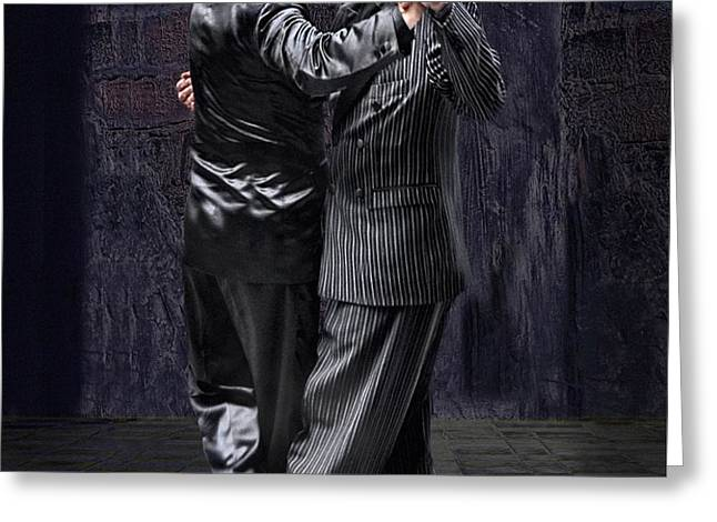For Men Only - Tango Series Greeting Card by Raul Villalba