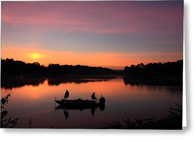 Stream Greeting Cards - For The Love Of Fishing 2 Greeting Card by Reid Callaway
