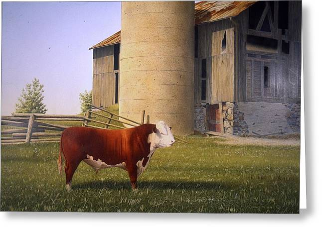 Egg Tempera Paintings Greeting Cards - For the Record Greeting Card by Conrad Mieschke