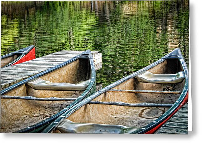Canoe Photographs Greeting Cards - For the Ride Greeting Card by Joye Ardyn Durham