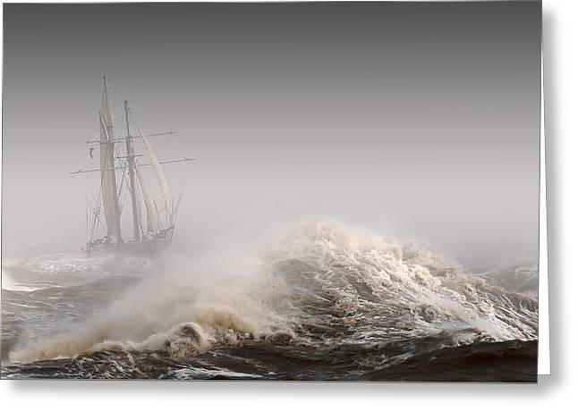 Storm Prints Greeting Cards - For Those in Peril Greeting Card by Rob Lester Wirral