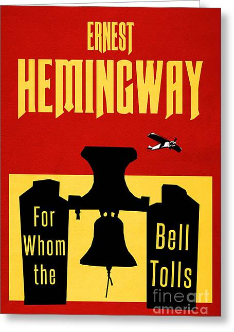 For Whom The Bell Tolls Book Cover Poster Art 2 Greeting Card by Nishanth Gopinathan