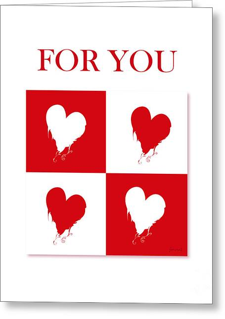High Heels Abstract Art Greeting Cards - Heart For You 2 Greeting Card by Johannes Murat
