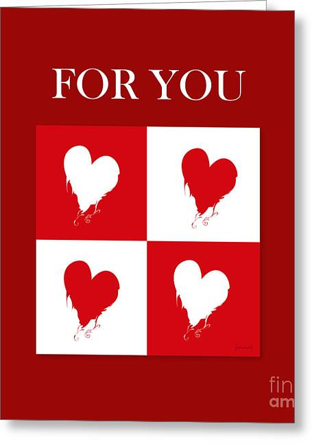 High Heels Abstract Art Greeting Cards - Heart For You Greeting Card by Johannes Murat