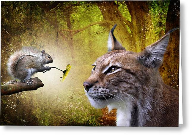 Feline Fantasy Greeting Cards - For You Greeting Card by Julie L Hoddinott