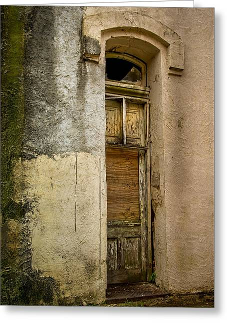Warm Tones Greeting Cards - Forbidding Doorway Greeting Card by Chris Daugherty