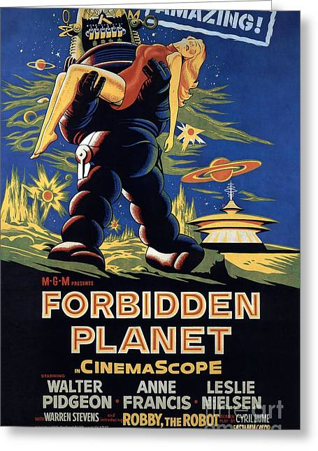 Forbidden Planet Amazing Poster Greeting Card by R Muirhead Art
