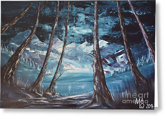 Thriller Paintings Greeting Cards - Forces Of Nature Greeting Card by Mario Lorenz