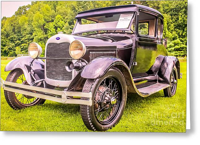 Ford Model T Car Greeting Cards - Ford - 1927 Greeting Card by Claudia Mottram