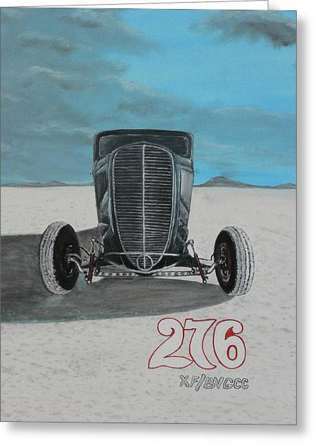 Chris Lambert Greeting Cards - Ford 34 At Bonneville Greeting Card by Chris Lambert