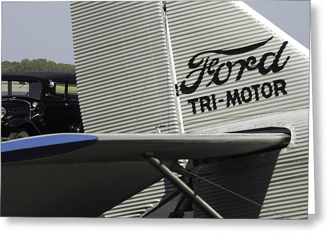 Ford Tri-motor Greeting Cards - Ford-Air and Road Greeting Card by Blake Tumbleson