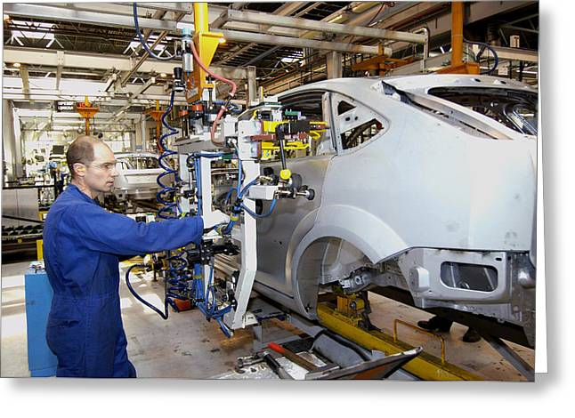 Conveyor Belt Greeting Cards - Ford Car Assembly Line Greeting Card by Ria Novosti