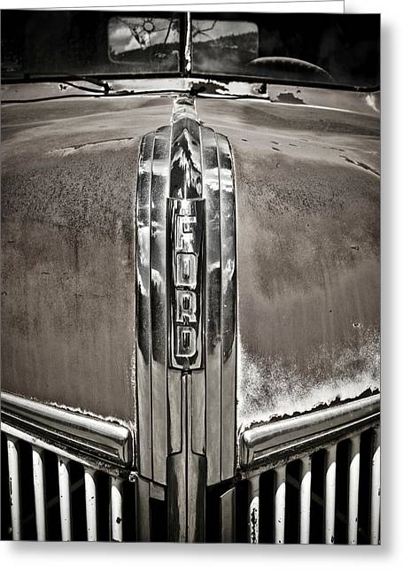 Bullet Holes Greeting Cards - Ford Chrome Grille Greeting Card by Marilyn Hunt