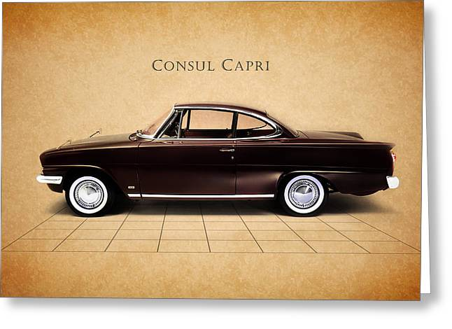 Ford Photographs Greeting Cards - Ford Consul Capri Greeting Card by Mark Rogan