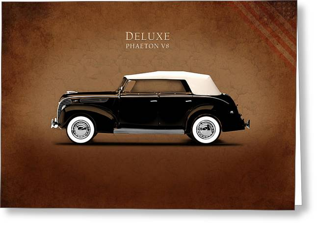 Ford Photographs Greeting Cards - Ford Deluxe V8 1938 Greeting Card by Mark Rogan