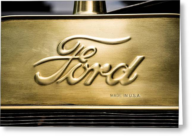 Ford Model T Car Greeting Cards - Ford Greeting Card by Don Johnson