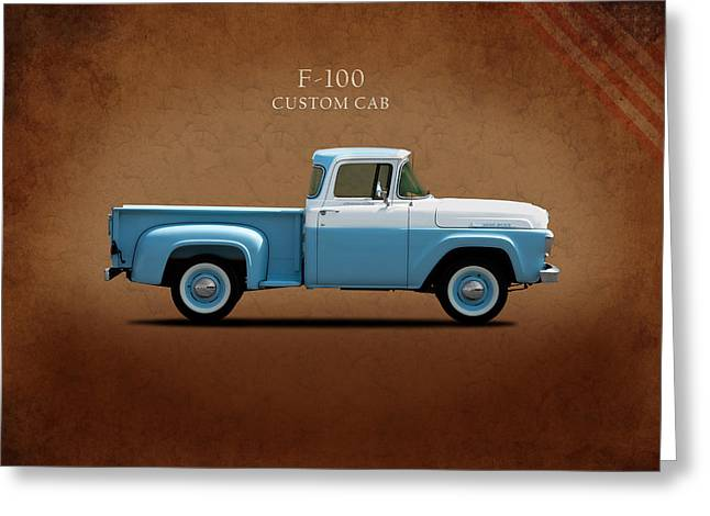 Classic Ford Greeting Cards - Ford F-100 1958 Greeting Card by Mark Rogan
