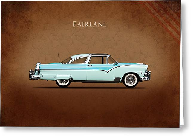 Ford Photographs Greeting Cards - Ford Fairlane 1955 Greeting Card by Mark Rogan