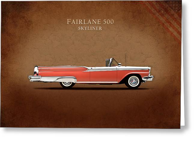 Fairlane Greeting Cards - Ford Fairlane 500 1959 Greeting Card by Mark Rogan