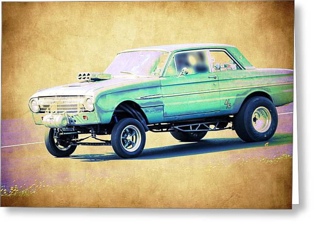 1963 Ford Greeting Cards - Ford Falcon Gasser Greeting Card by Steve McKinzie