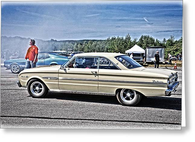 Ford Sprints Greeting Cards - Ford Falcon Sprint Greeting Card by Mike Martin