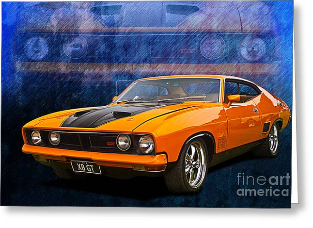 Xb Coupe Greeting Cards - Ford Falcon XB 351 GT Coupe Greeting Card by Stuart Row