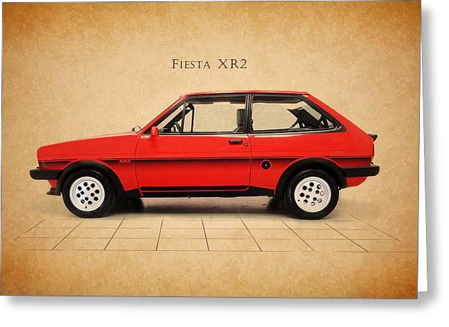 Ford Fiesta Xr2 Greeting Card by Mark Rogan