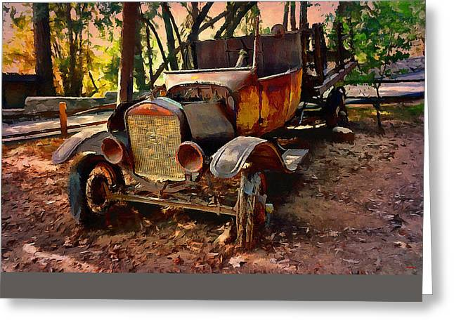 Ford Flatbed Truck Greeting Card by Glenn McCarthy Art and Photography