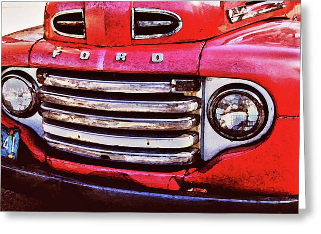 Ford Grille Greeting Card by Michael Thomas