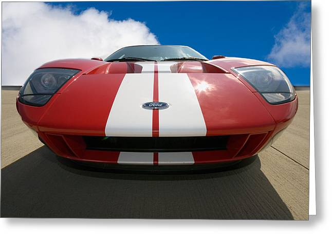 Fast Cars Greeting Cards - Ford GT Greeting Card by Peter Tellone