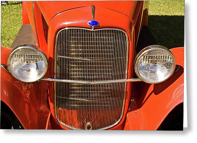Revelry Greeting Cards - Ford Headlights Greeting Card by Douglas Barnett