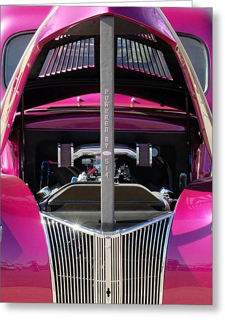 Ford Hot Rod Grille Greeting Card by Jill Reger