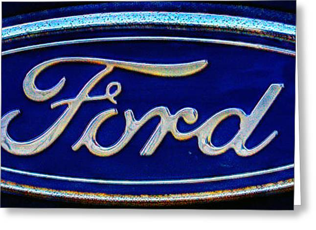 Ford Model T Car Greeting Cards - Ford Logo 283 Greeting Card by Jeff Stallard