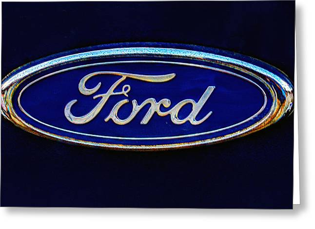 Ford Model T Car Greeting Cards - Ford Logo 284 Greeting Card by Jeff Stallard