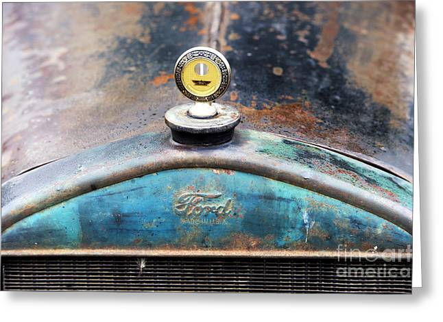 Ford Made In Usa Rat Rod Greeting Card by Tim Gainey