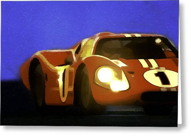 Racecar Number Greeting Cards - Ford Mark IV Greeting Card by Mark Irvine