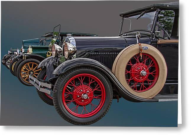 Ford Model T Car Greeting Cards - Ford Model A and T Greeting Card by Nick Gray
