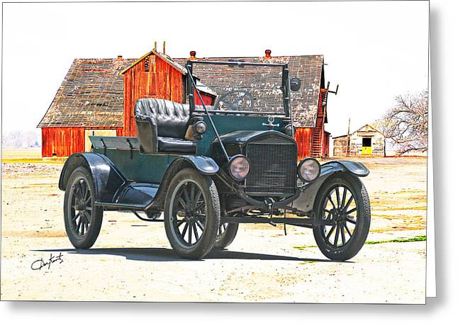 Ford Model T Car Greeting Cards - Ford Model T Antique Pickup Greeting Card by Dave Koontz