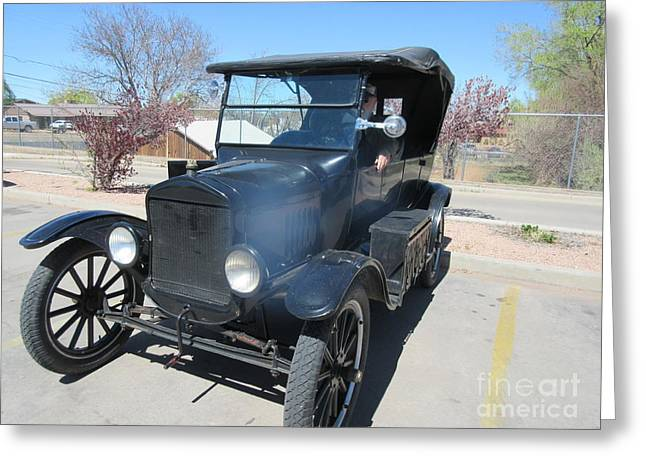 Ford Model T Car Greeting Cards - Ford Model T Greeting Card by Frederick Holiday