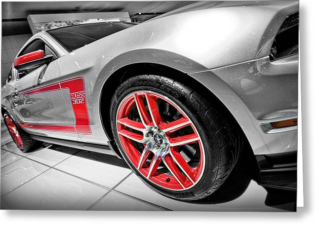 Spoiler Greeting Cards - Ford Mustang Boss 302 Greeting Card by Gordon Dean II